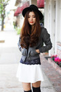Gray-faux-leather-charlotte-russe-jacket-navy-urban-outfitters-socks