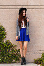 Blue-mini-charlotte-russe-skirt-white-lace-forever-21-top