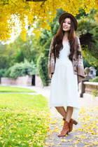 light brown Yesstyle cardigan - aquamarine mint free people dress