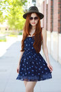 Navy-summer-abercrombie-and-fitch-dress-army-green-forever-21-hat