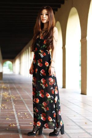 black maxi Morphologie dress