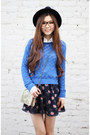Black-cut-out-topshop-boots-blue-loose-forever-21-sweater-white-zara-shirt