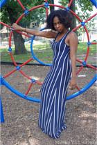 maxi striped dress