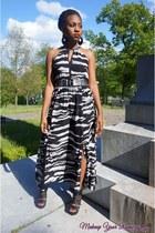 black H&M dress - black Heart & Soul wedges - silver silver Aldo belt