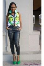 aquamarine Aldo accessories - dark gray H&M pants