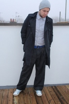 vintage shirt - Zara pants - Topman jacket - Uniqlo belt - Uniqlo hat