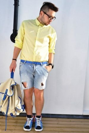 H&M shirt - DIY shorts - H&M shoes - bag New Look accessories - Zara belt