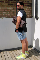 DIY blazer - DIY shorts - new look t-shirt