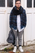 H&M shirt - H&M sweater - COS bag accessories - Zara hi-tops shoes - vintage sca
