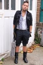 H&M shirt - H&M shorts - Long Johns accessories - vintage boots