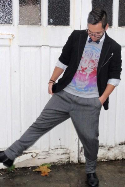 Topman jacket - new look t-shirt - vintage pants - Topman shirt