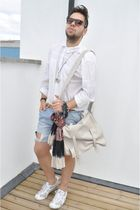 H&M shirt - DIY shorts - H&M belt - Bag H&M accessories - onitsuka tiger shoes -