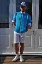 H&M shirt - Uniqlo jacket - Mexx shorts - Blue inc hat - Uniqlo socks - Puma sho