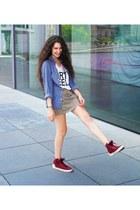 maroon Levis sneakers