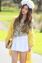 cable yellow Za-mongcom cardigan