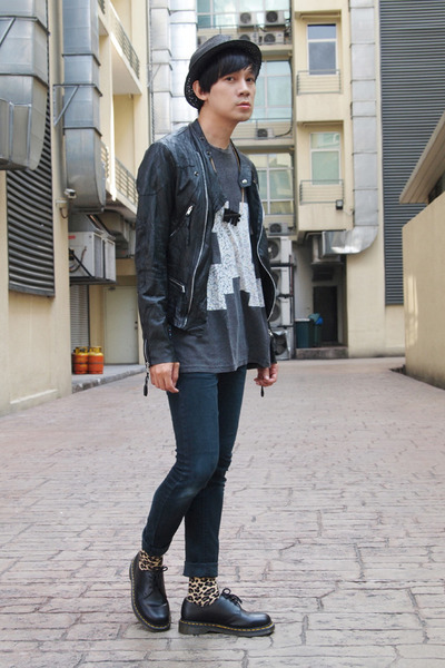horace jacket - Dr Martens shoes - horace t-shirt