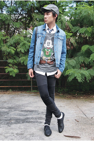 asos t-shirt - H&amp;M jeans - Topman jacket - Topman tie