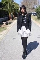 romwe blazer - Mango shorts - urba heels