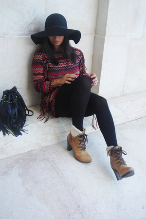 Pepe Jeans boots - Zara dress - H&M hat - H&M bag