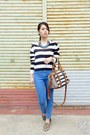 Blue-high-waisted-bdg-jeans-crop-h-m-divided-sweater