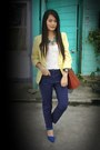 Yellow-cropped-wagw-blazer-tan-louis-vuitton-bag