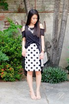white Urban Dressing skirt - silver Abby Jocson bag - black WAGW top