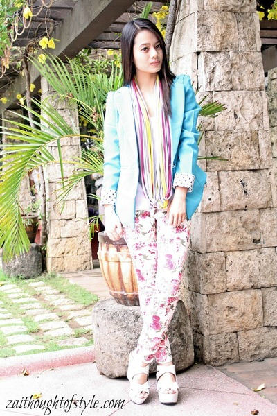 Monkee Business blazer - stylistaPH accessories - floral July pants