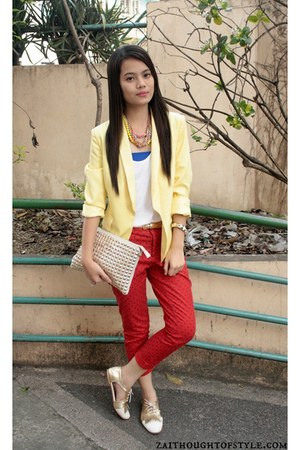WAGW blazer - Gap pants - Cole Vintage flats - AG Cordeshoppe necklace