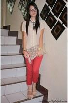 Parisian bag - Gap pants - Forever 21 top - Pinky Toes sandals