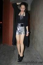 Wardrobe Check shorts - laced corset Vanilla Breeze top - dress up cardigan