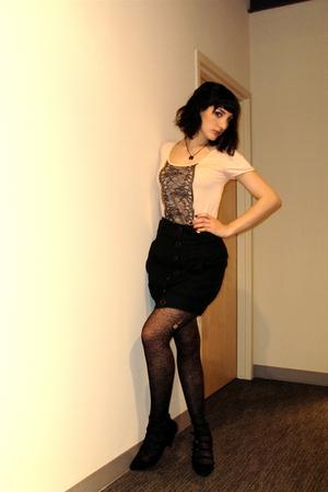Zara top - obey skirt - Zara shoes - H&M necklace
