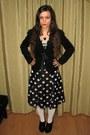 Black-charles-keith-boots-black-dress-black-blazer