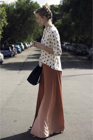 vintage pants - Zara shirt - Zara bag