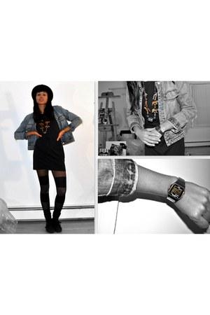striped tights American Apparel tights - black dress hand me down dress