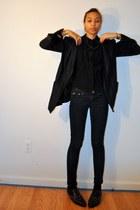 unkown brand shoes - Fragile jeans - black linen unknown brand blazer