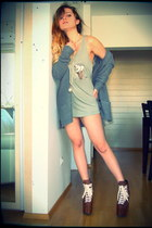 pull&bear cardigan - UNIF shoes - High Heels Suicide top