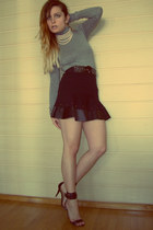 Mango shoes - Pull & Bear skirt - Pull & Bear blouse