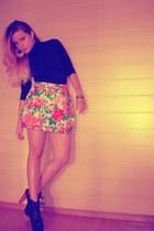 Zara skirt - Jeffrey Campbell shoes