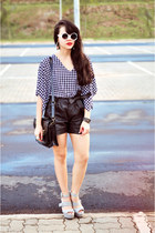 leather shoers Marisa shorts - gray Colcci shoes