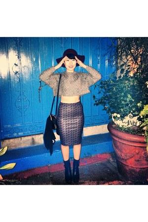 magenta Zara skirt