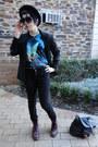 Brick-red-doc-martens-boots-black-jayjays-jeans-black-thrifted-blazer-blac