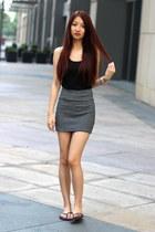 American Apparel skirt - H&M top - hollister flats