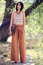 bronze asos blouse
