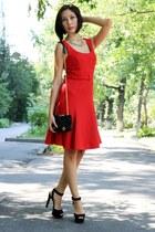 red next dress