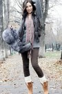 Beige-accessorize-scarf-charcoal-gray-dorothy-perkins-vest