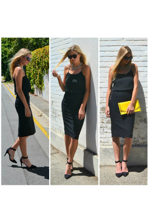 yellow ZiiPORA bag - black ZiiPORA skirt - black edie tank ZiiPORA top