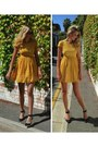 Mustard-dress-ziipora-dress-ziipora-sunglasses-white-lipstik-shoes-heels