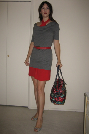 American Apparel dress - Express dress - Nine West belt - Nine West shoes - Oili