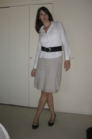 more and more skirt - MNG blouse - calvin klein belt