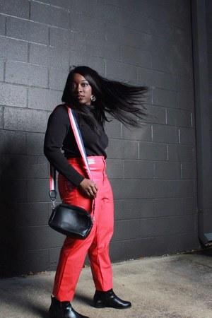 vinyl Miss Selfridge pants - Boohoo bag
